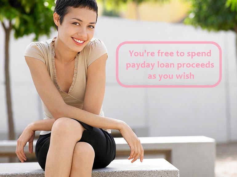 free to spend payday loans as you wish